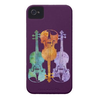 Tres violines iPhone 4 Case-Mate protectores