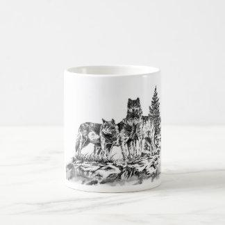 Tres Wolfs la taza de Coffe