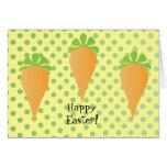 Tres zanahorias tarjeta pequeña