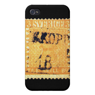 Treskilling Yellow of Sweden Sverige 3 Cent Stamp Covers For iPhone 4