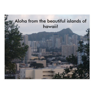 TRESMARIE 031, Aloha from the beautiful islands... Postcard