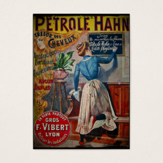 Tresor des Cheveux Vintage Antiseptic Ad Business Card