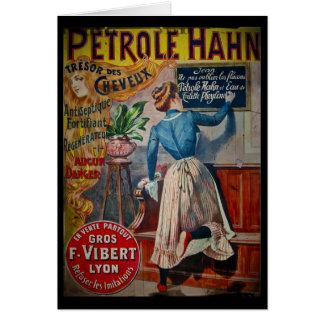 Tresor des Cheveux Vintage Antiseptic Ad Card