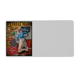 Tresor des Cheveux Vintage Antiseptic Ad Label