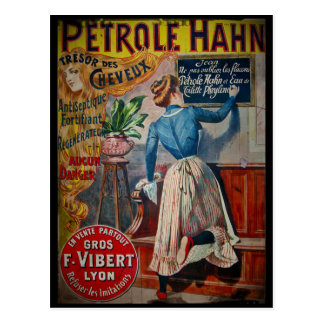 Tresor des Cheveux Vintage Antiseptic Ad Postcard