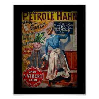 Tresor des Cheveux Vintage Antiseptic Ad Poster