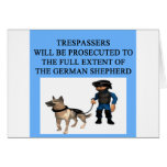 trespaaser german shepherd cards