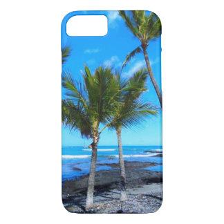 Tress de la palma en un cielo azul hawaiano funda iPhone 7
