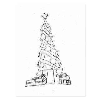 tress de Navidad Postal