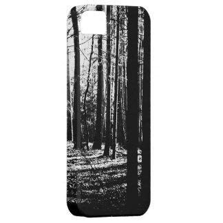 Tress oscuro del verde de la selva del bosque funda para iPhone SE/5/5s