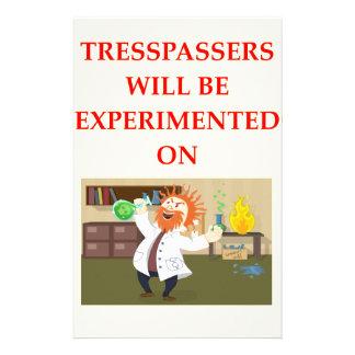 TRESSPASSER STATIONERY