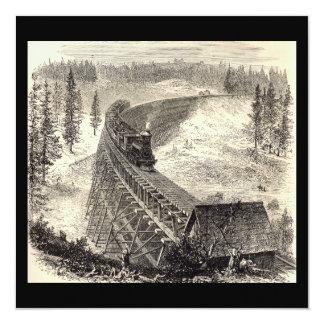 Trestle Bridge on the Pacific Railway Custom Invitations