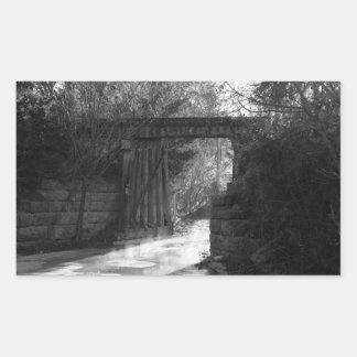 Trestle Bridge Rectangular Sticker