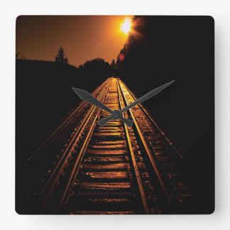 """Trestle Dawn"" Square Wall Clock"