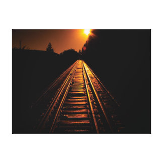 Trestle Dawn Wrapped Canvas Print