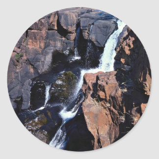 Treur River Canyon Eastern Transvaal South Afric Round Sticker