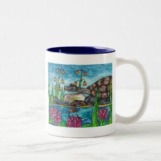 Trev the Turtle Two-Tone Coffee Mug