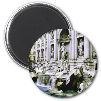 Trevi Fountain 2 Inch Round Magnet