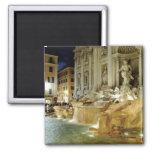 Trevi Fountain 2 Inch Square Magnet