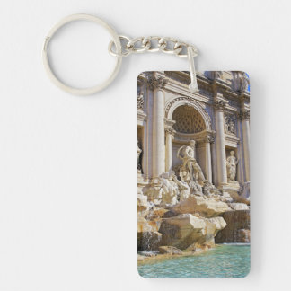trevi fountain and colesseum Double-Sided rectangular acrylic keychain