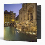 Trevi Fountain at night, Rome, Lazio, Italy 3 Ring Binder