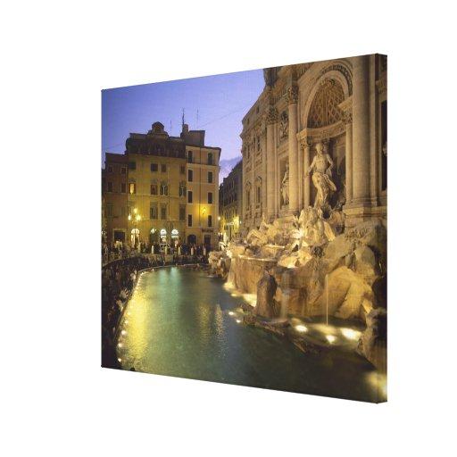 Trevi Fountain at night, Rome, Lazio, Italy Canvas Print