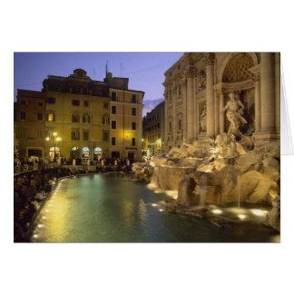 Trevi Fountain at night, Rome, Lazio, Italy Greeting Card