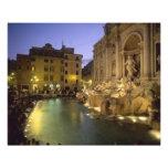 Trevi Fountain at night, Rome, Lazio, Italy Photo Print