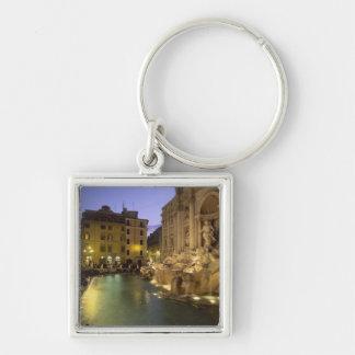 Trevi Fountain at night, Rome, Lazio, Italy Silver-Colored Square Keychain