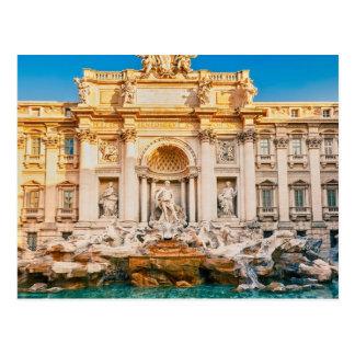 Trevi Fountain at Rome Postcard