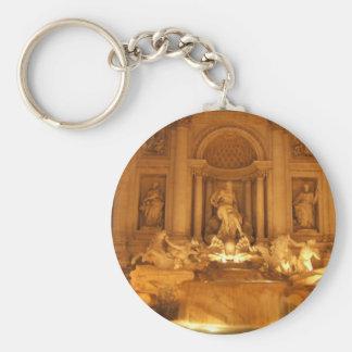 Trevi Fountain Basic Round Button Keychain