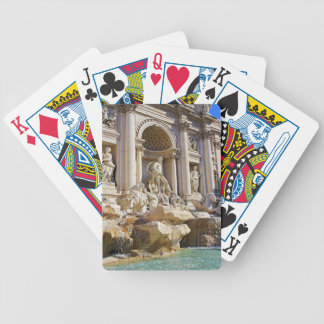 trevi fountain bicycle playing cards
