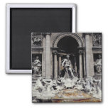 Trevi Fountain, built 1732-62 2 Inch Square Magnet