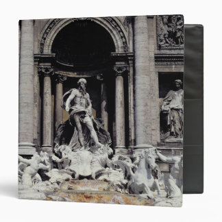 Trevi Fountain, built 1732-62 3 Ring Binder