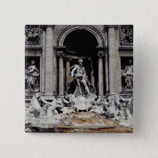 Trevi Fountain, built 1732-62 Button