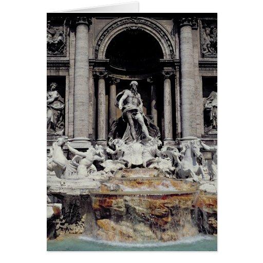 Trevi Fountain, built 1732-62 Card
