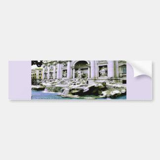 Trevi Fountain Bumper Sticker