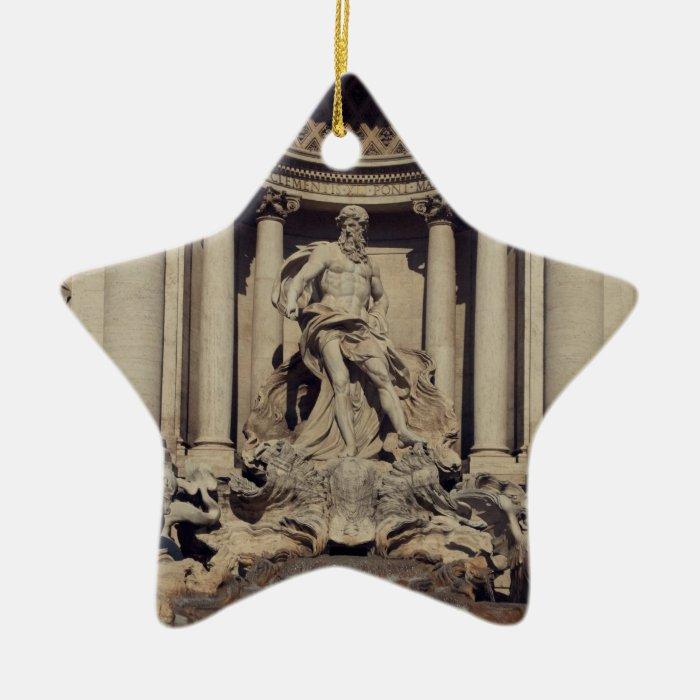 Trevi Fountain Ceramic Ornament