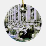 Trevi Fountain Christmas Tree Ornaments