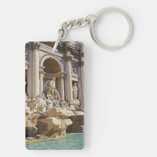 trevi fountain Double-Sided rectangular acrylic keychain