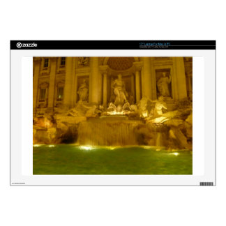 """Trevi Fountain evening Decal For 17"""" Laptop"""