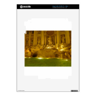 Trevi Fountain evening Decal For The iPad 2