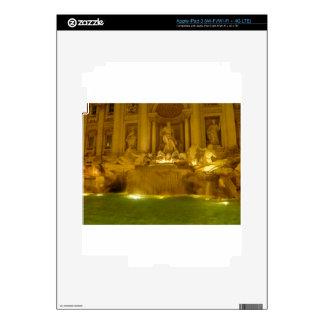 Trevi Fountain evening iPad 3 Decal