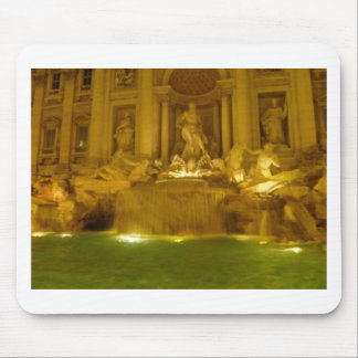 Trevi Fountain evening Mouse Pad