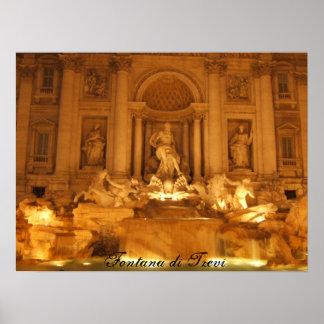 Trevi Fountain, Fontana di Trevi Poster