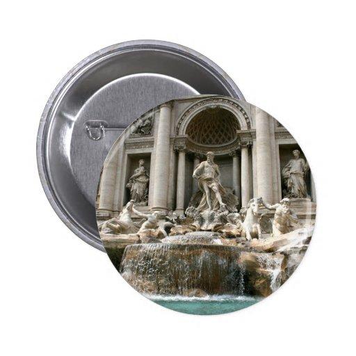 Trevi Fountain (Fontana di Trevi) -Rome 2 Inch Round Button