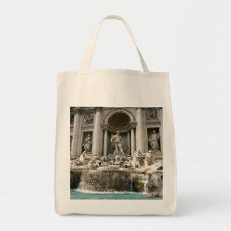 Trevi Fountain (Fontana di Trevi) -Rome Canvas Bags
