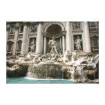 Trevi Fountain (Fontana di Trevi) -Rome Stretched Canvas Prints