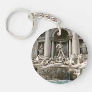 Trevi Fountain (Fontana di Trevi) -Rome Double-Sided Round Acrylic Keychain