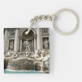 Trevi Fountain (Fontana di Trevi) -Rome Double-Sided Square Acrylic Keychain